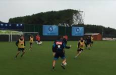 Napoli, Inter, allenamento