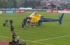 Napoli, De Laurentiis, elicottero