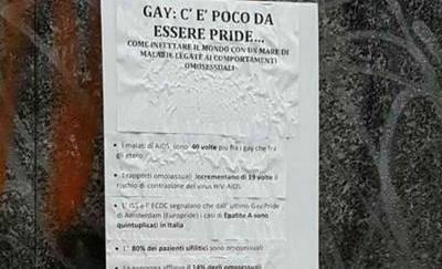 «I gay infettano il mondo», vergogna a Milano