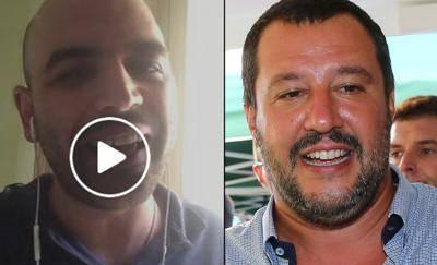 Duro attacco di Roberto Saviano a Matteo Salvini