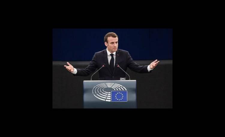 Macron all'Europarlamento: