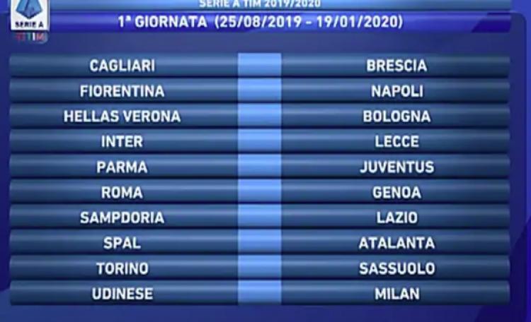Calendario 2020 Inter.Serie A Ecco Il Calendario Del Napoli Roma